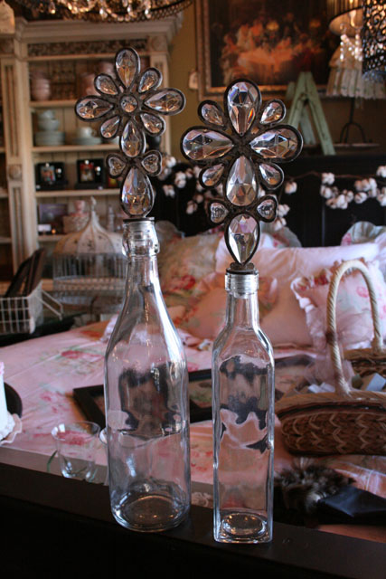 Bottles with Crystal Stoppers